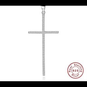 Jewelry - 925 Sterling Silver Cross and Chain